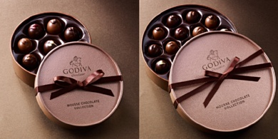 GODIVA MOUSSE CHOCOLATE COLLECTION- image