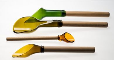 GLASS BOTTLES UTENSILS & CUPS- image